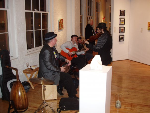 Playing for 1st Thursday at Butters Gallery - Photo by Jen Mayfield-Shafer
