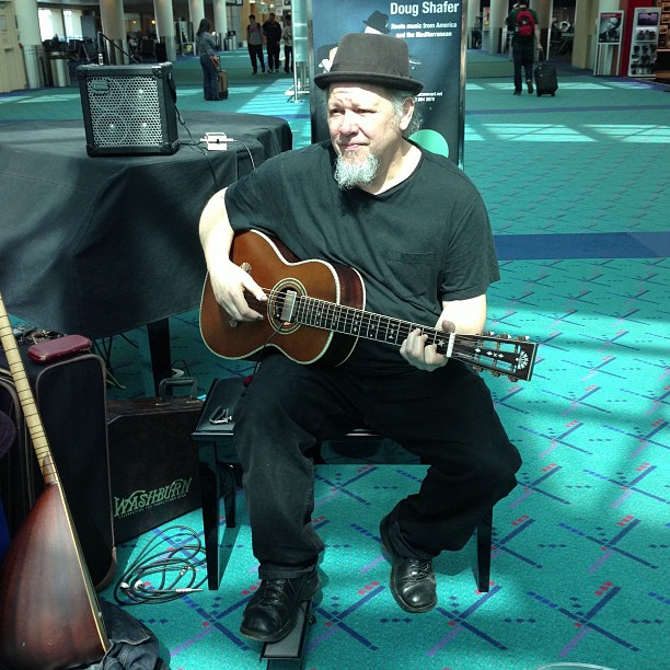 Playing at Portland International Airport - Image by David Friedman